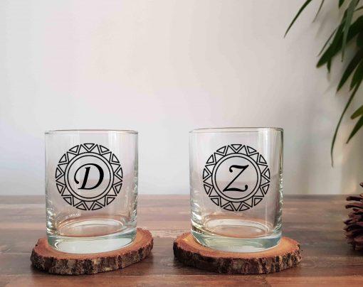 Baş Harfli İkili Viski Bardağı
