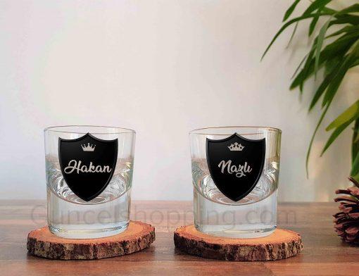 Royalty İkili Kalın Viski Bardağı