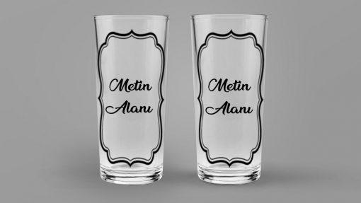 kişiye özel sözlü rakı bardağı