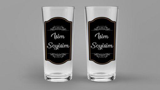 İsimli Rakı Bardağı