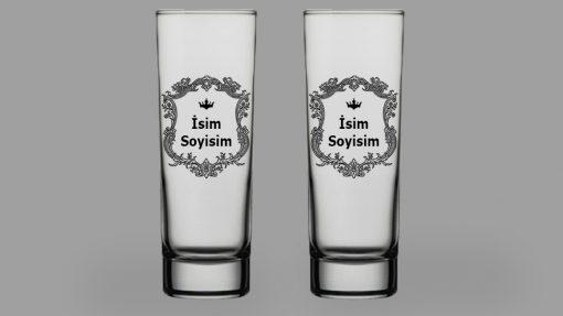 İsimli Arma İkili Votka Bardağı