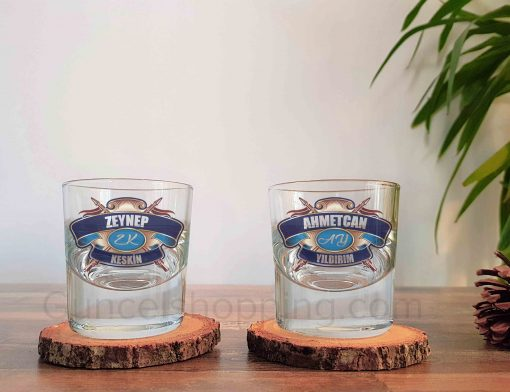 Chivas Regal Mavi Logo İkili Kalın Viski Bardağı