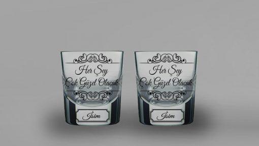 Her Şey Çok Güzel Olacak İkili Kalın Viski Bardağı