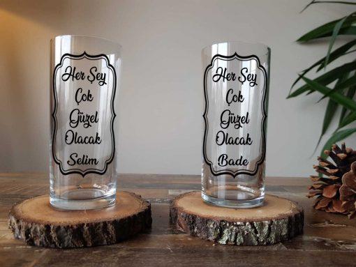 Her Şey Çok Güzel Olacak İkili Rakı Bardağı