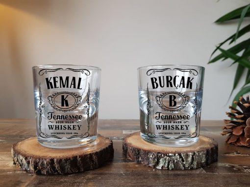 Jack Daniels İsimli Kalın Viski Bardağı