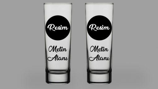 Kişiye Özel Resimli ve İsimli Votka Bardağı