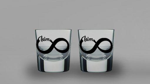 Sonsuzluk İkili Kalın Viski Bardağı