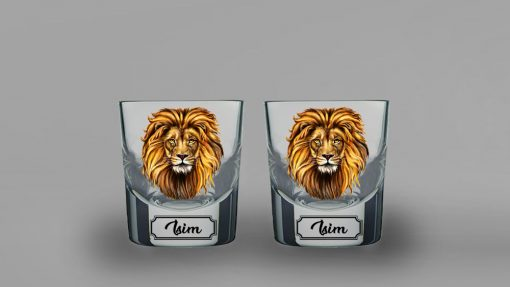 Aslan İkili Kalın Viski Bardağı