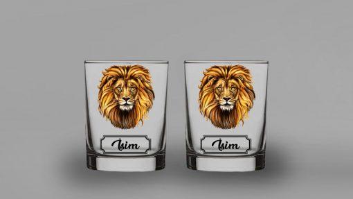 Aslan İkili Viski Bardağı