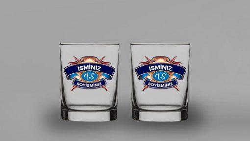 Chivas Regal Mavi Logo İkili Viski Bardağı