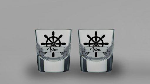 Dümen İkili Kalın Viski Bardağı