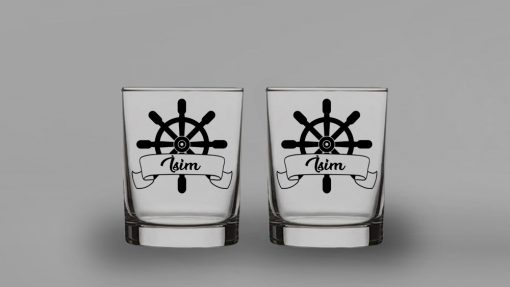 Dümen İkili Viski Bardağı
