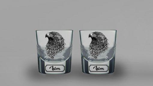 Kartal İkili Kalın Viski Bardağı
