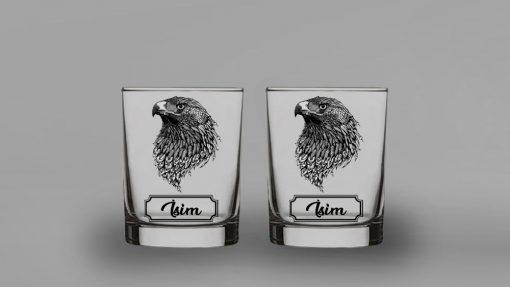 Kartal İkili Viski Bardağı