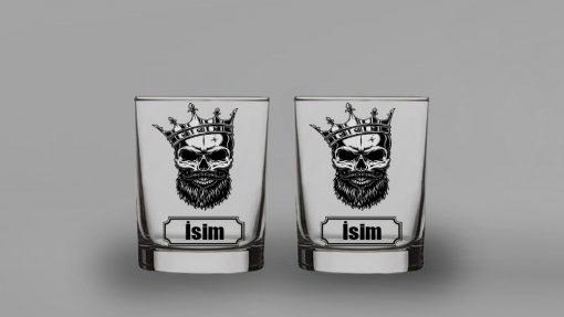 Skull King İkili Viski Bardağı